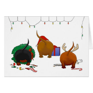 Nothin' Butt A Doxie Christmas Greeting Card