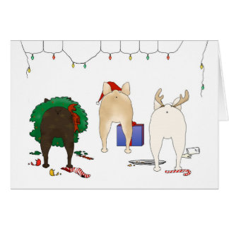 Nothin' Butt A Frenchie Christmas Card