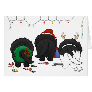 Nothin' Butt A Newfie Christmas Greeting Card
