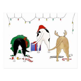 Nothin' Butt A Pit Bull Christmas Postcard