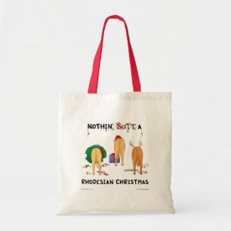 Nothin' Butt A Rhodesian Christmas Tote Bag