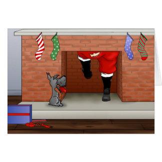 Nothin' Butt A Schnauzer Christmas Greeting Card