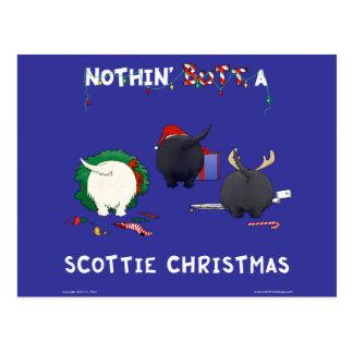 Nothin Butt A Scottie Christmas Postcard
