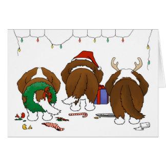 Nothin' Butt A St. Bernard Christmas Card