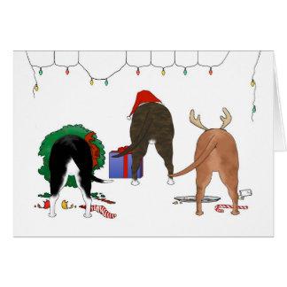 Nothin' Butt A Staffie Christmas Card
