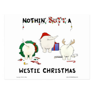 Nothin Butt A Westie Christmas Post Cards