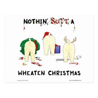 Nothin Butt A Wheaten Christmas Post Cards