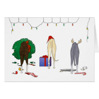 Nothin' Butt A Whippet Christmas Greeting Card
