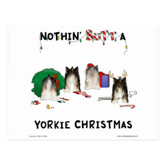 Nothin Butt A Yorkie Christmas Post Card