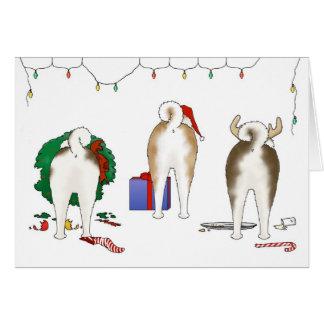 Nothin' Butt An Akita Christmas Greeting Card