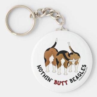 Nothin' Butt Beagles Basic Round Button Key Ring