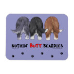 Nothin' Butt Beardies Rectangular Magnet