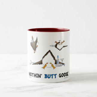 Nothin' Butt Goose Two-Tone Coffee Mug