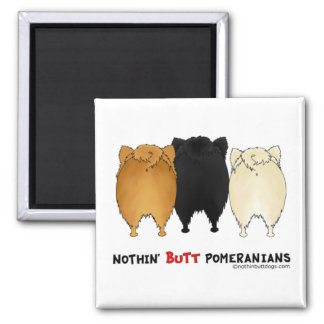 Nothin Butt Pomeranians Refrigerator Magnet