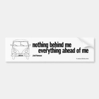 nothing – a vintage camper bumper sticker