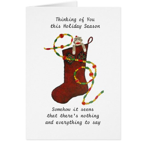 Nothing And Everything To Say At Christmas Card