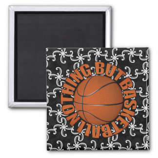 Nothing But Basketball Square Magnet
