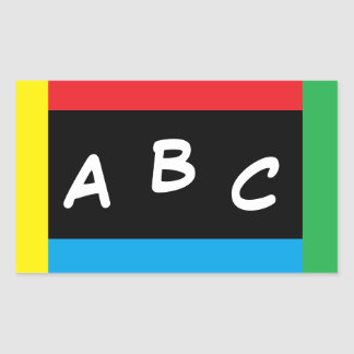 Nothing But Color ABC Primary Colors Stickers 2