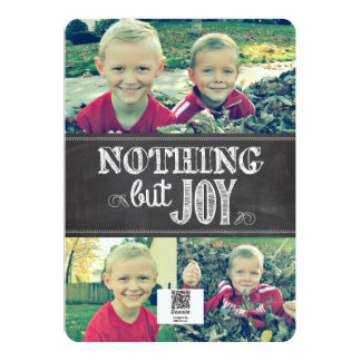 Nothing But Joy Card | 4 photos | 5x7 | Flat