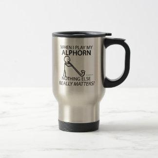 Nothing Else Matters Alphorn Travel Mug