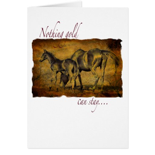 Nothing Gold Can Stay Greeting Cards
