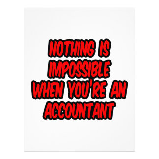 Nothing Is Impossible...Accountant Flyer Design