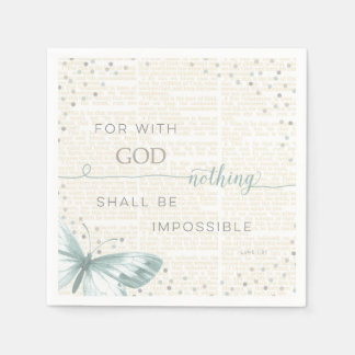 Nothing Is Impossible Disposable Serviettes