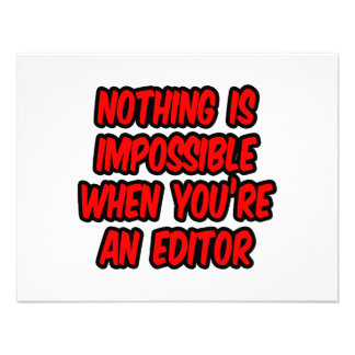 Nothing Is Impossible Editor Personalized Invites