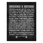 Nothing is impossible Gym Motivational Chalkboard Poster