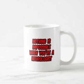 Nothing Is Impossible...Neurologist Basic White Mug