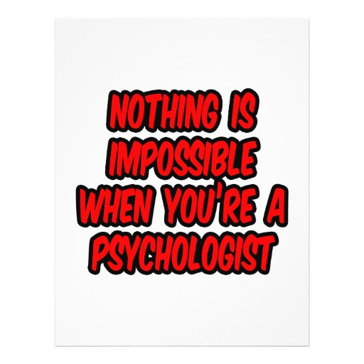 Nothing Is Impossible...Psychologist Personalized Flyer