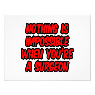 Nothing Is Impossible Surgeon Invitation