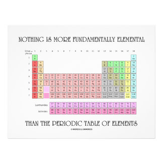 Nothing Is More Fundamentally Elemental Periodic T Flyer Design