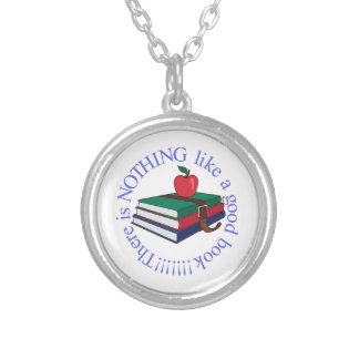 Nothing Like a Good Book Round Pendant Necklace
