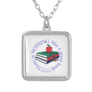 Nothing Like a Good Book Square Pendant Necklace