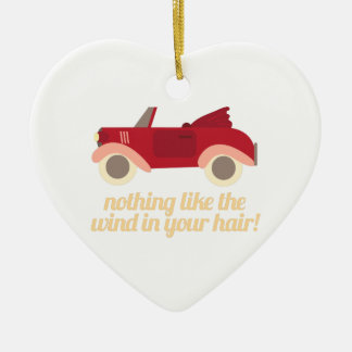 Nothing Like The Wind In Your H Ceramic Heart Decoration