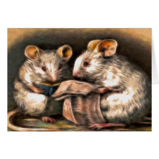 """Nothing on TV Tonight"" Mice Greeting Card"