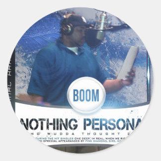 Nothing Personal 2K12 Kover Round Sticker