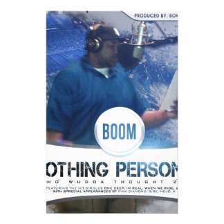 Nothing Personal 2K12 Kover Customized Stationery