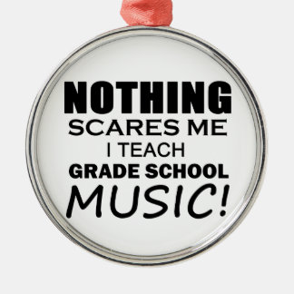 Nothing Scares Me Grade School Music Christmas Ornament