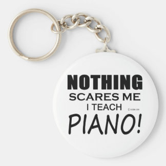 Nothing Scares Me Piano Basic Round Button Key Ring