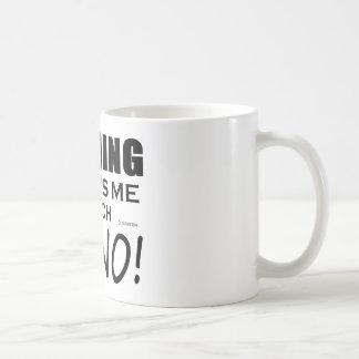 Nothing Scares Me Piano Basic White Mug