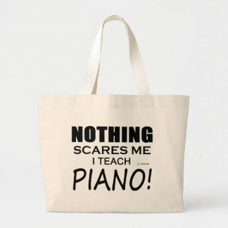 Nothing Scares Me Piano Large Tote Bag