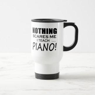 Nothing Scares Me Piano 15 Oz Stainless Steel Travel Mug