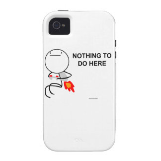 Nothing to do here iPhone 4/4S cases