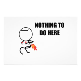 Nothing To Do Here Rage Face Meme Personalized Stationery