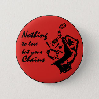 Nothing to lose but your chains 6 cm round badge