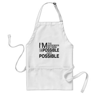 Nothings Impossible Standard Apron