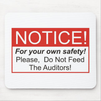 Notice Auditor Mouse Pads