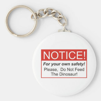Notice / Dinosaur Basic Round Button Key Ring